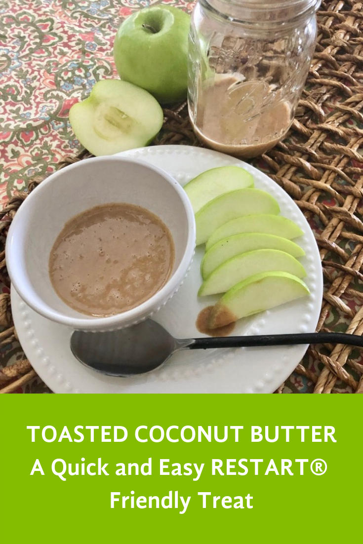 Toasted Coconut Butter Recipe with Apples