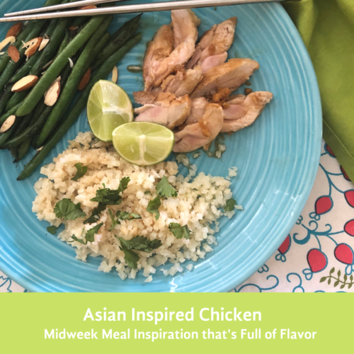 Asian Inspired Chicken: A mid week meal idea that is FULL of flavor! This RESTART-friendly recipe is going to be a family favorite!