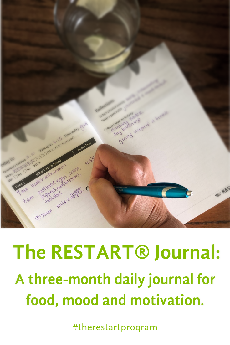 The RESTART® Journal: A three-month daily journal for food, mood and motivation.