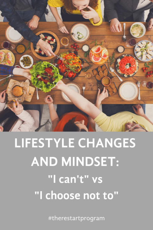 "Lifestyle Changes and Mindset: ""I can't"" vs. "" I choose not to"""