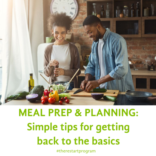Meal Prep & Planning: Simple tips for getting back to the basics.