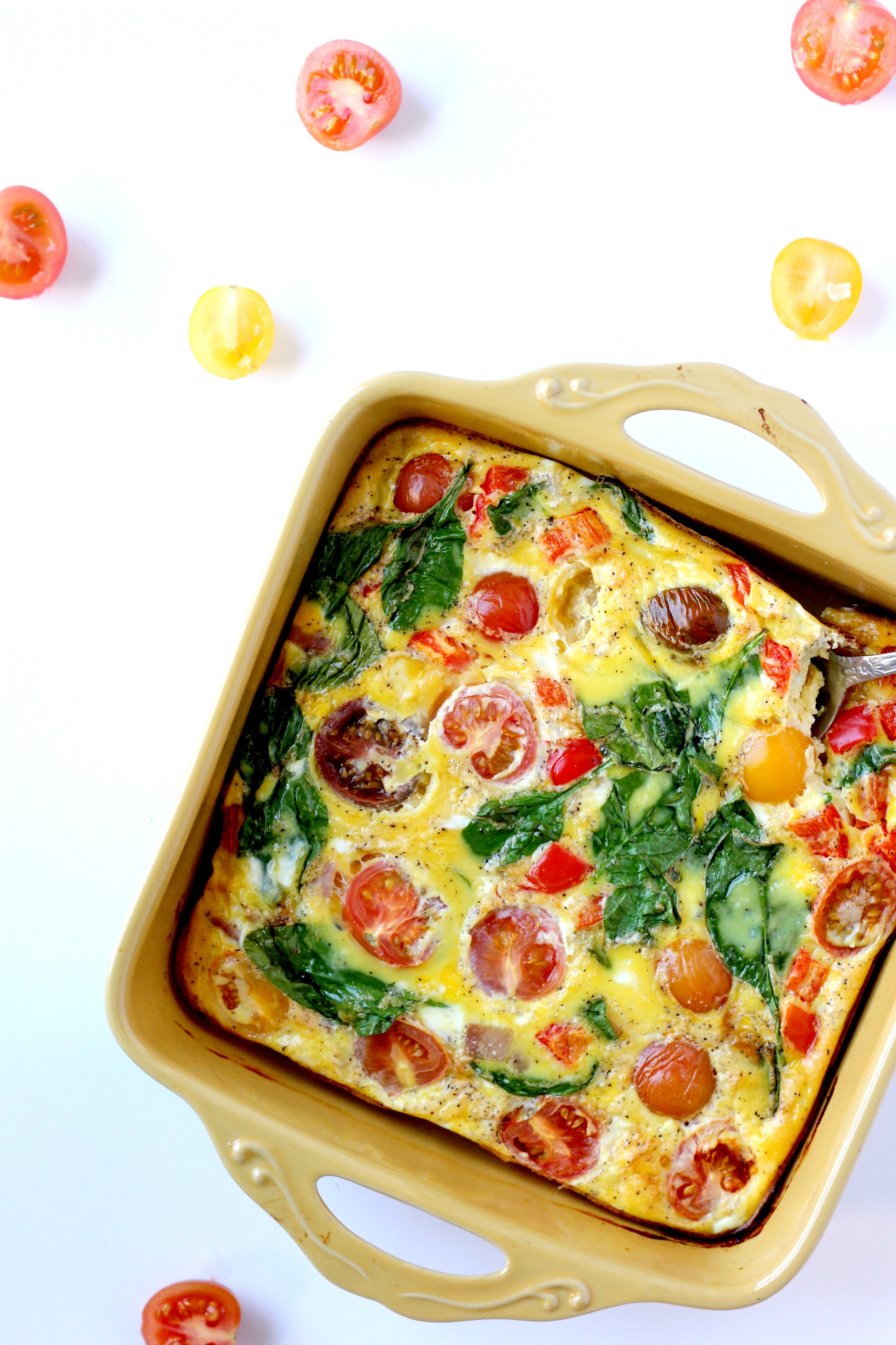 Dairy Free Frittata with Heirloom Tomatoes by Bravo for Paleo