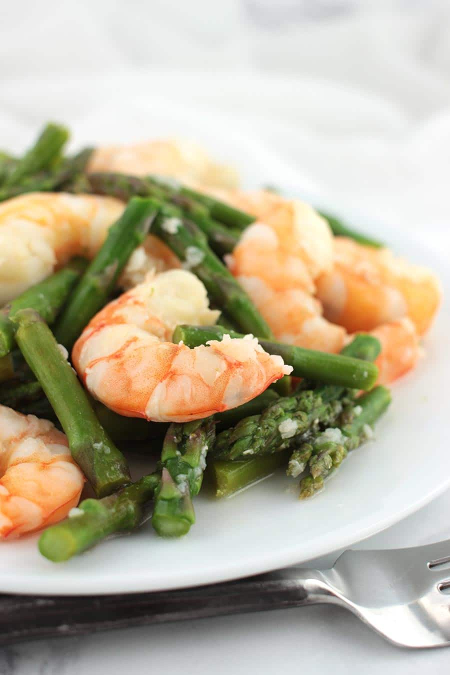 Garlic Lemon Asparagus Shrimp Stir Fry by A Clean Plate