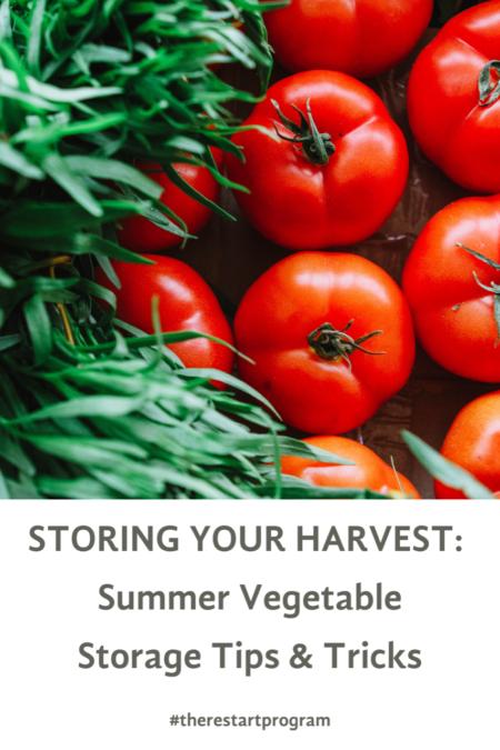 STORING YOUR HARVEST_ Summer Vegetable Storage Tips & Tricks