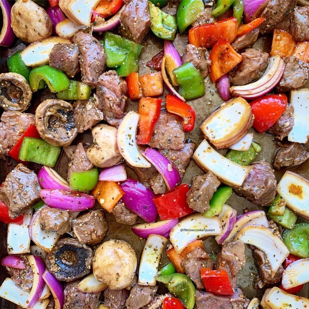 Deconstructed Beef Kebabs by Fit Slow Cooker Queen